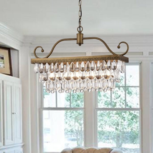 Gerhart 4-Light Crystal Chandelier by House of Ham