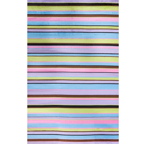 Ball Ground Alisa Stripes Kids Area Rug by Zoomie Kids