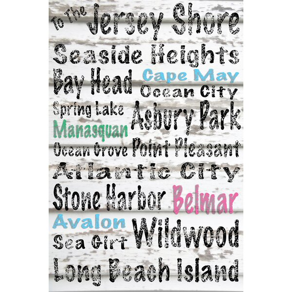 To the Jersey Shore Textual Art on Wrapped Canvas by Buy Art For Less