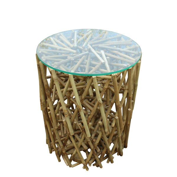 Lefkoniko Maze Bamboo End Table by Bay Isle Home