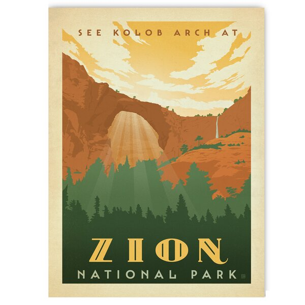 Zion Vintage Advertisement by East Urban Home