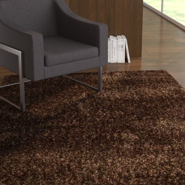 Stiner Hand-Woven Wool Brown Area Rug by Latitude Run