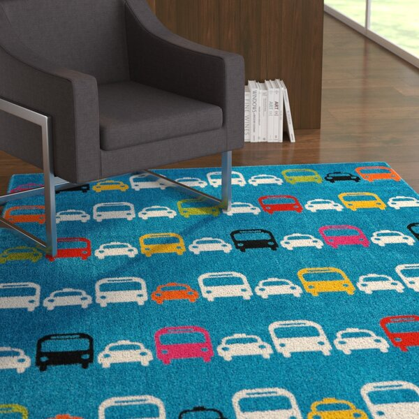 Chunn Blue Area Rug by Ebern Designs