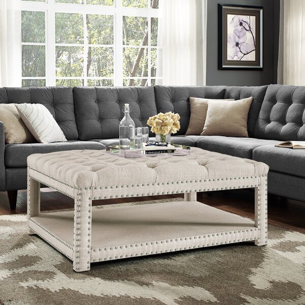 Worth Tufted Cocktail Ottoman by Darby Home Co