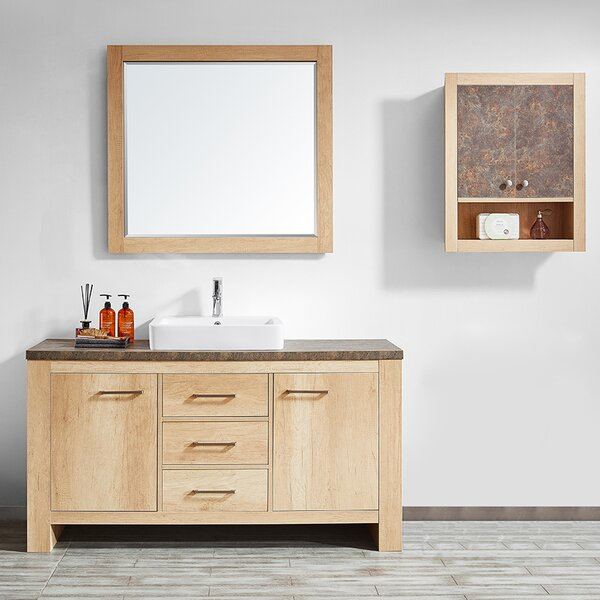 Kemp 60 Single Bathroom Vanity Set with Mirror by Union Rustic