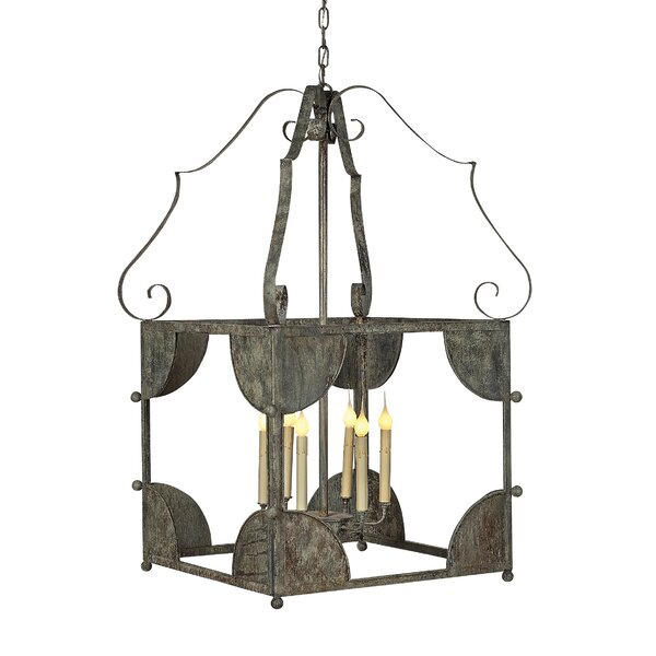 Chelsea 6 - Light Lantern Square Chandelier By Ellahome