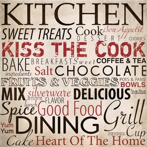 Kitchen Textual Art on Wrapped Canvas by PTM Images