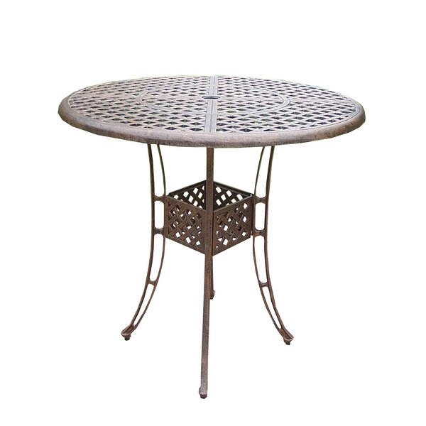 Thelma Cast Aluminum 42 Inch Bar Table by Astoria Grand