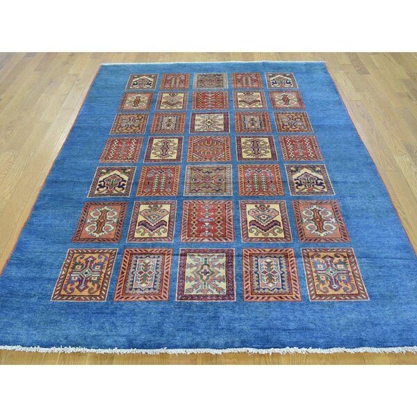 One-of-a-Kind Beauchamp Denim Design Handwoven Blue Wool Area Rug by Isabelline