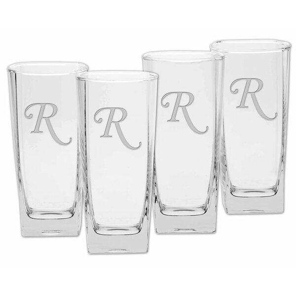 Linwood Deep Etched 16 Oz. Cooler Glass (Set of 4) by Winston Porter