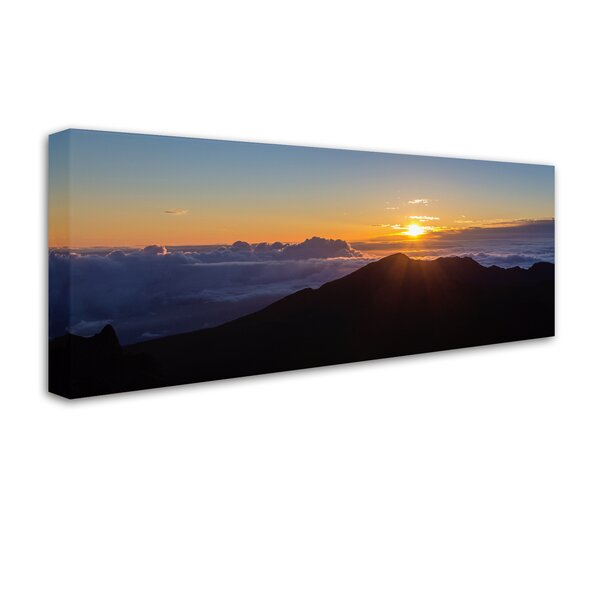 Haleakala Sunrise Maui by Pierre Leclerc Photographic Print on Wrapped Canvas by Trademark Fine Art