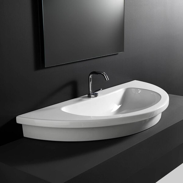 Kart Ceramic U-Shaped Vessel Bathroom Sink by WS Bath Collections