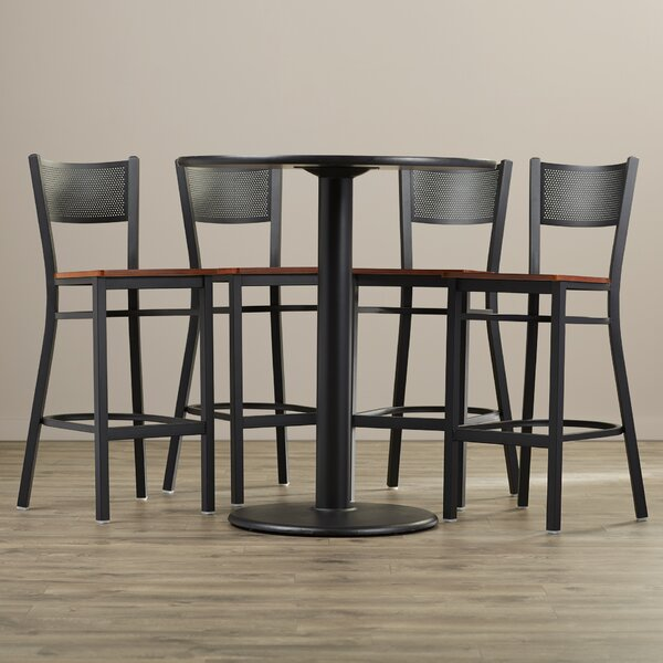 Broadway 5 Piece Pub Table Set by Latitude Run