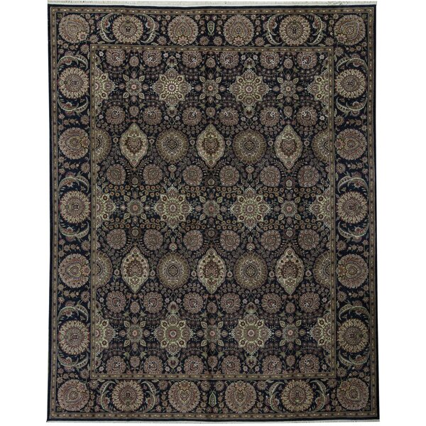 One-of-a-Kind Manchuria Hand-Knotted Brown/Beige 11'9 x 14'9 Wool Area Rug