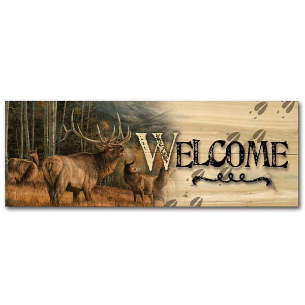 Welcome Meadow Music Elk Graphic Art Plaque by WGI-GALLERY