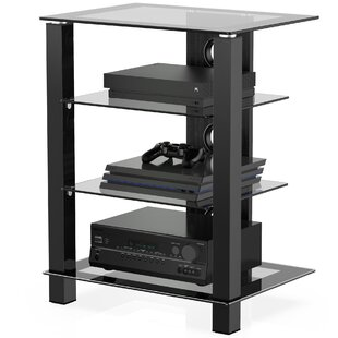 4Tier AV Media Stand Component Tower Audio Rack by Latitude Run