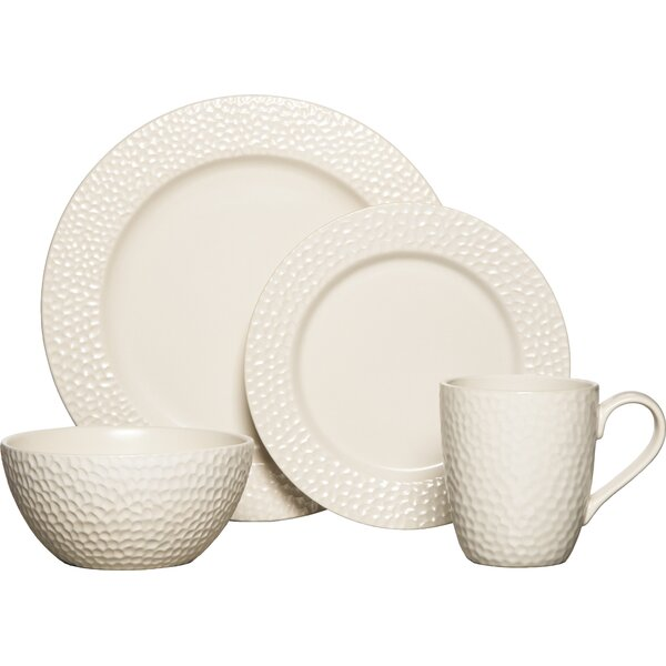 Hayes 16 Piece Dinnerware Set, Service for 4 by Gourmet Basics by Mikasa