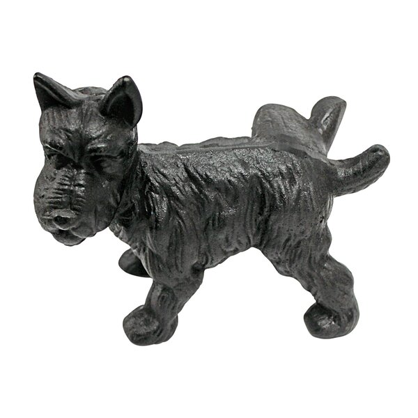 Naughty Peeing Scotty Dog Die-Cast Iron Doorstop and Book Ends by Design Toscano