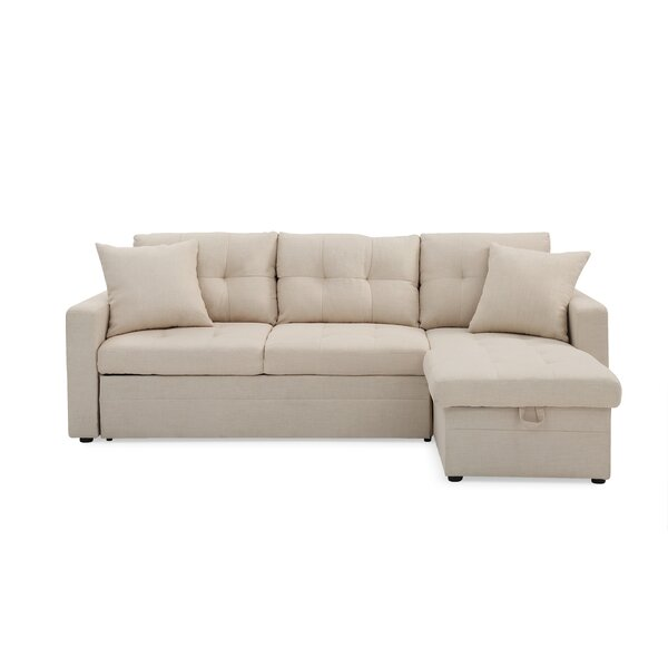 Perfect Quality Clarke Right Hand Facing Sleeper  Sectional by Ebern Designs by Ebern Designs