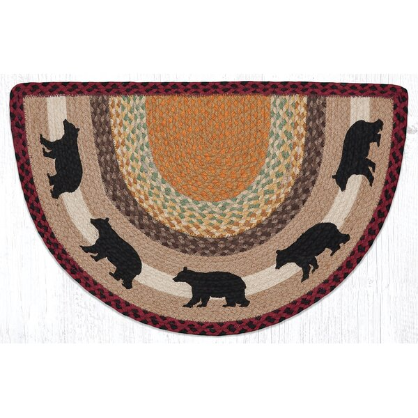 Cabin Bear Printed Multi Slice Area Rug by Earth Rugs
