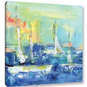 'Abstract Harbor 6 Relaxing Day' Painting Print on Wrapped Canvas by Breakwater Bay