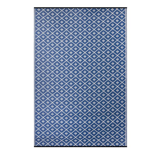 Premier Home Hand-Woven Blue Indoor/Outdoor Area Rug by Fox Hill Trading