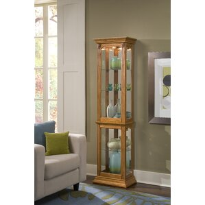 Maywood Lighted Curio Cabinet by Charlton Home