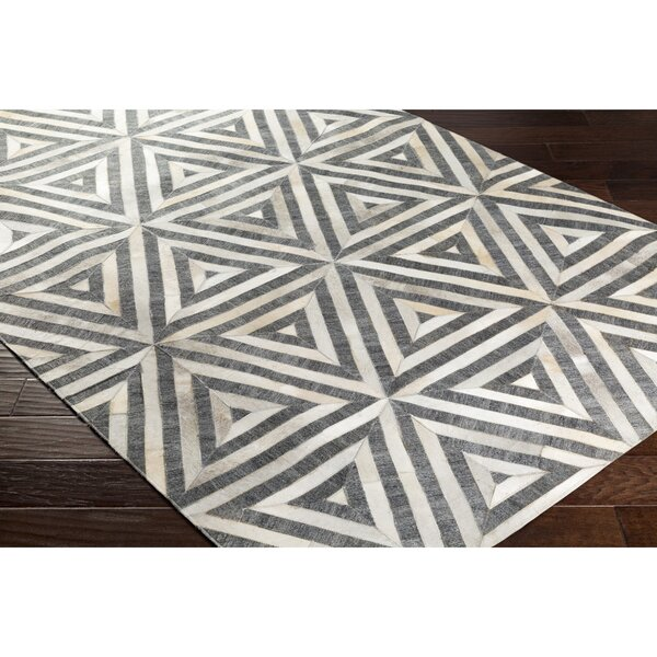 Armando Hand-Crafted Gray/Neutral Area Rug by Williston Forge