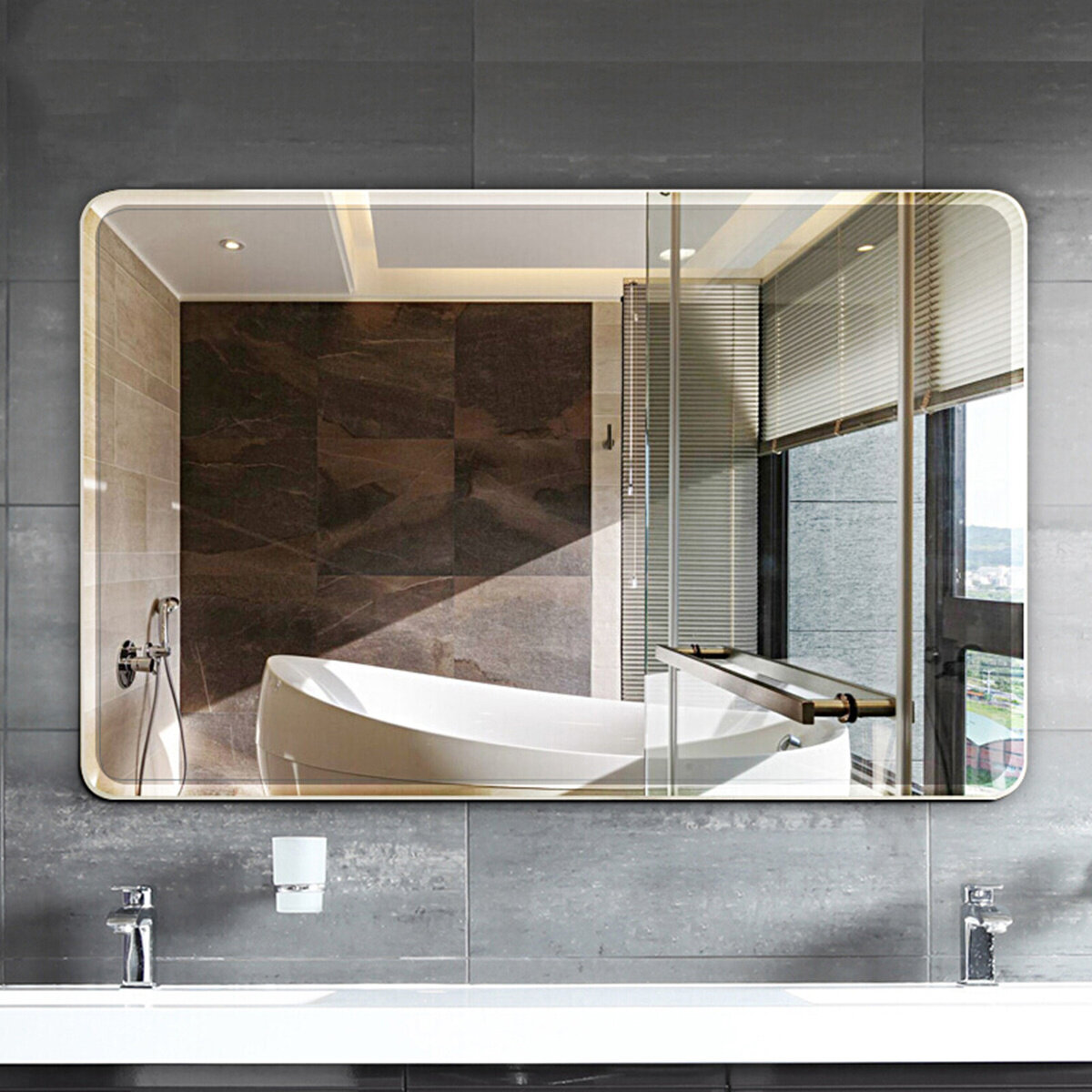 Orren Ellis Parik Modern & Contemporary Frameless Bathroom / Vanity Mirror  & Reviews   Wayfair