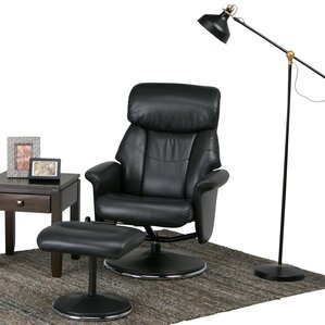 Carson Manual Swivel Glider Recliner With Ottoman by Simpli Home