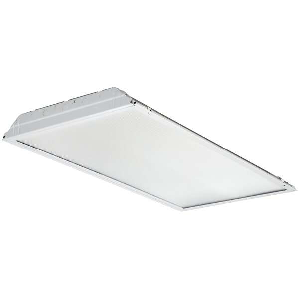 GTL 1-Light Contractor Lensed Troffer LED Semi Flush Mount by Lithonia Lighting