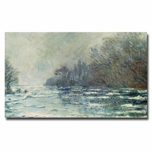 The Break Up at Vetheuil, 1883 by Claude Monet Painting Print on Wrapped Canvas by Trademark Fine Art