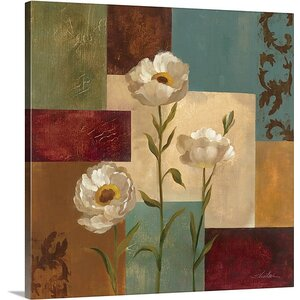 'Retro Floral I' by Silvia Vassileva Painting Print on Canvas by Great Big Canvas