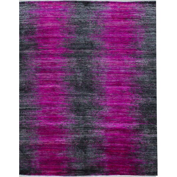 Canterbury Hand-Knotted Pink/Black Area Rug