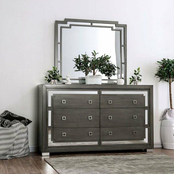 Aspacio 6 Drawer Double Dresser by Brayden Studio
