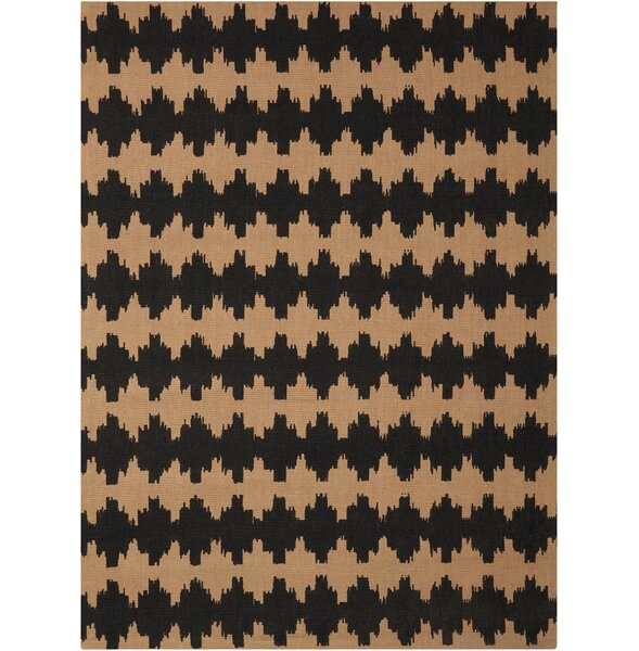 Color Motion Brushworks Black/Brown Area Rug by Waverly