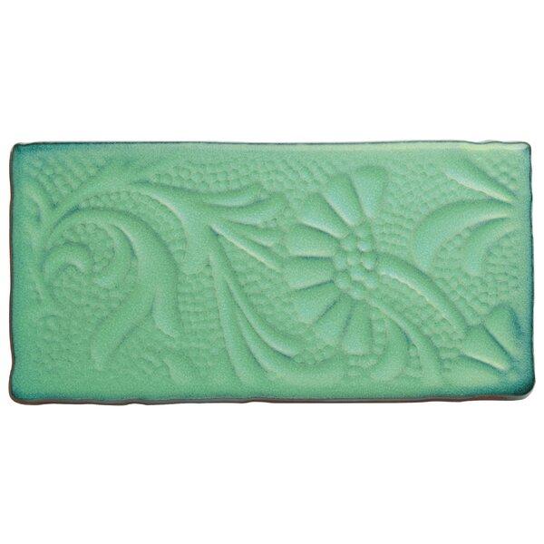 Antiqua 3 x 6 Ceramic Subway Tile in Feelings Lava Verde by EliteTile