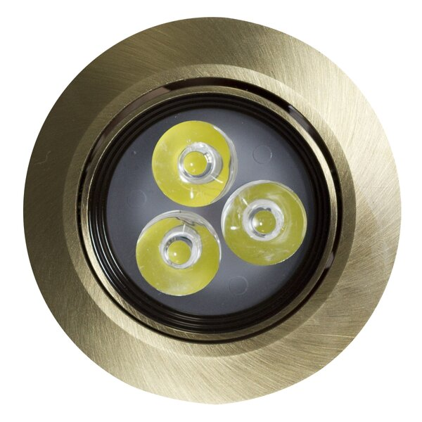 Round Brass 3.5 Recessed Lighting Kit by American Imaginations