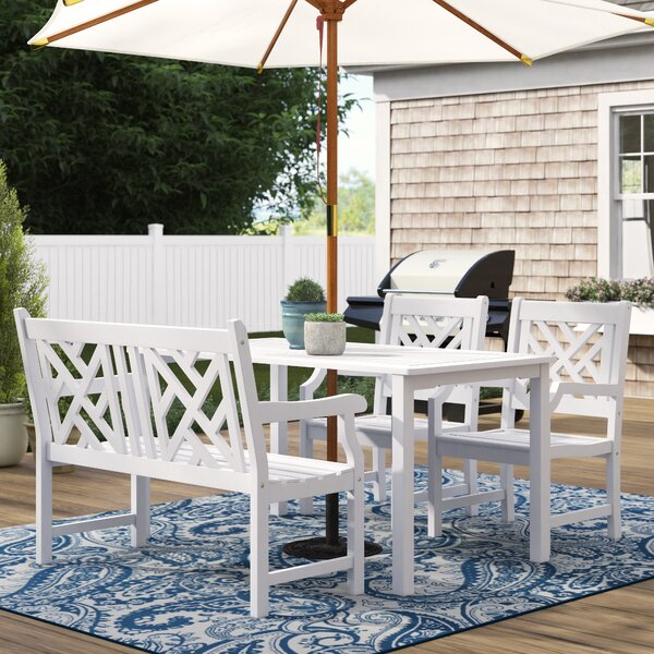 Zephyrine 4 Piece Dining Set By Beachcrest Home by Beachcrest Home #1