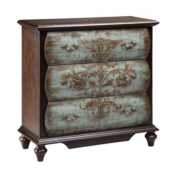Tryston 3 Drawer Chest by World Menagerie World Menagerie