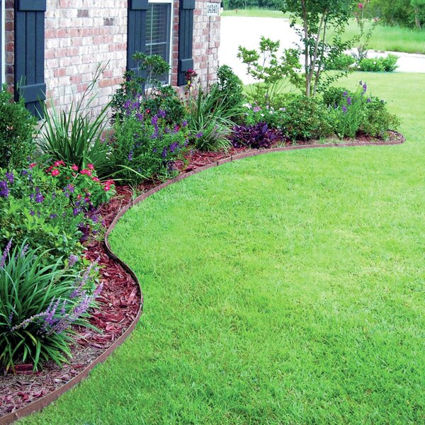 Ceder and Brow Premium Lawn Edging by Gardener's Blue Ribbon