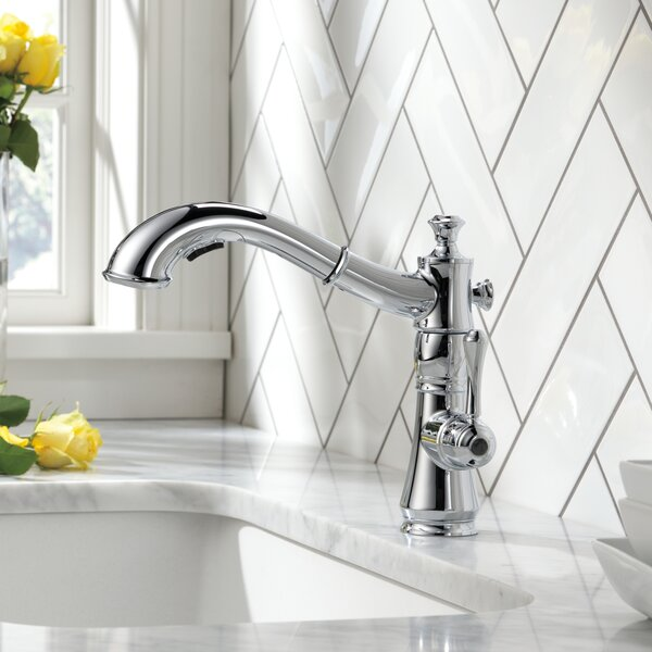 Cassidy Pull Out Single Handle Kitchen Faucet with Diamond Seal Technology by Delta