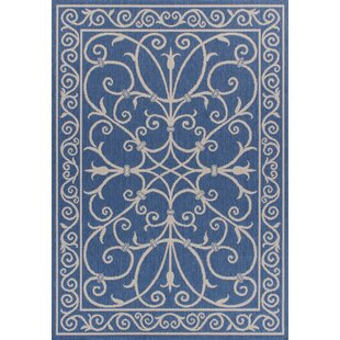 Ricky Weather-Proof Blue Indoor/Outdoor Area Rug ByCharlton Home