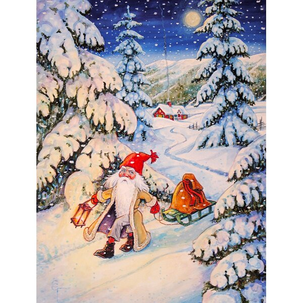 Christmas Gnome Pulling A Sled 2-Sided Garden Flag by Caroline's Treasures