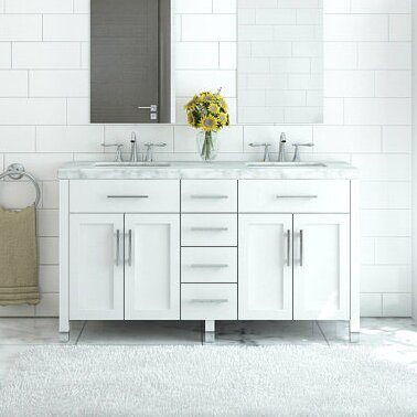 Hackett 59 Double Bathroom Vanity Set by Wrought Studio
