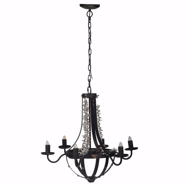 Ashwell Beads 6-Light Candle Style Empire Chandelier by Bungalow Rose Bungalow Rose