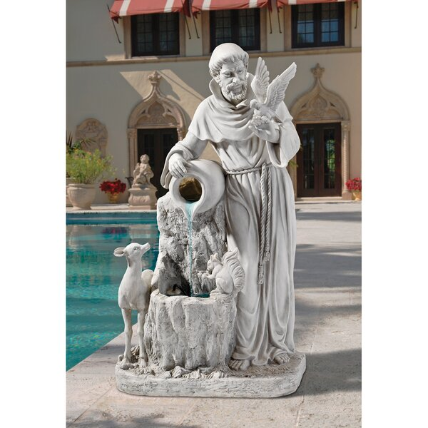 St. Francis Resin Life Giving Water Fountain by Wildon Home ®