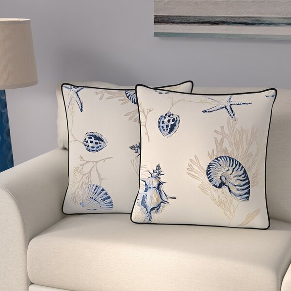 Southhampton Throw Pillow (Set of 2) by Beachcrest Home