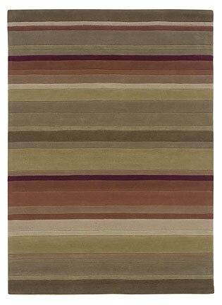 Allport Hand-Tufted Green/Rust Area Rug by Winston Porter