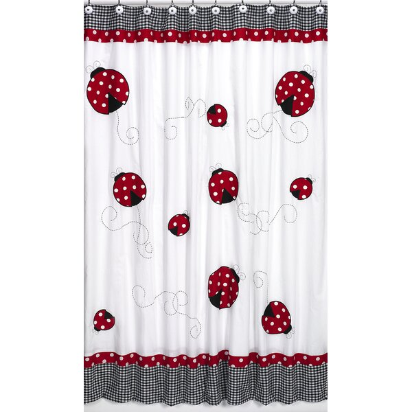 Little Ladybug Cotton Shower Curtain by Sweet Jojo Designs